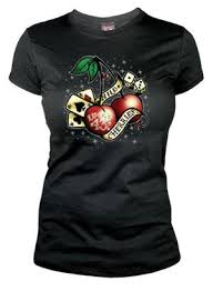 Wild Cherries Lucky 13 T Shirt